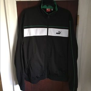 Black green and white puma zip up. NWOT